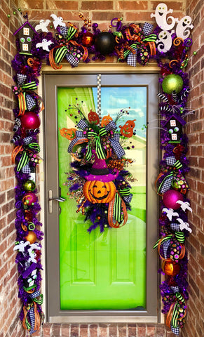 Bright and Fun Halloween Front Door