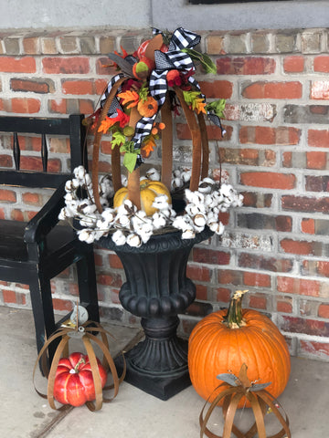 Embellished Metal Pumpkin