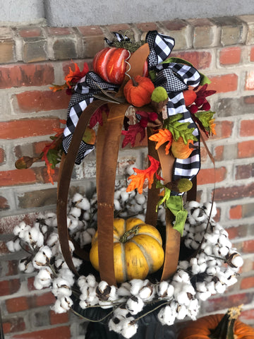 Black and White Fall Flower Pot