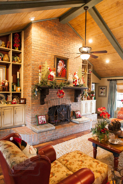 Country French Christmas mantel