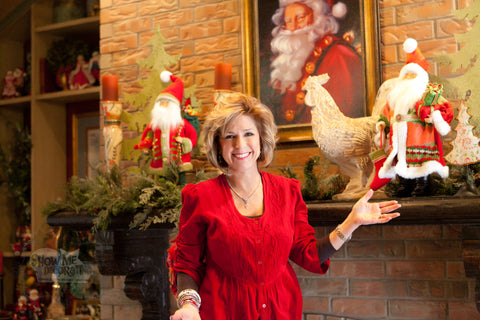 Kathy shows how to decorate a Country French Christmas themed mantel