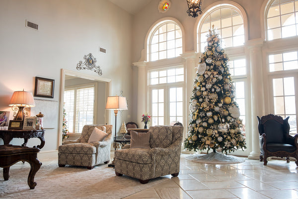 Silver, Gold and White Christmas Home Tour