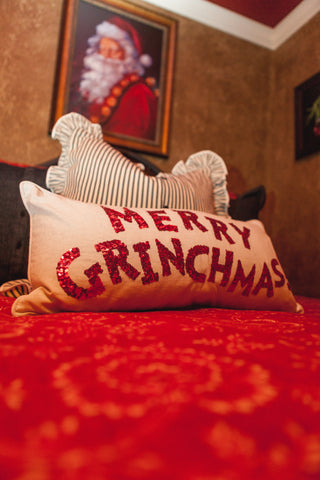 Christmas Grinch Pillow