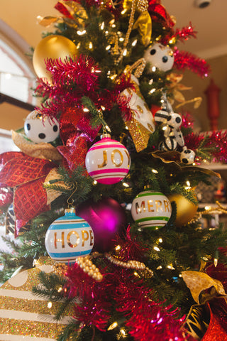 Joy, Hope and Merry Christmas Ornaments