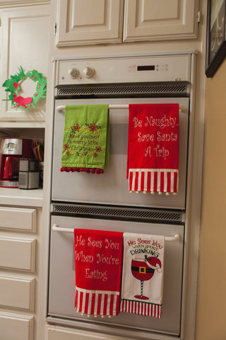 Festive Holiday Cup Towels