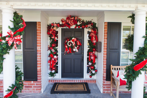 Candy Cane Front Door