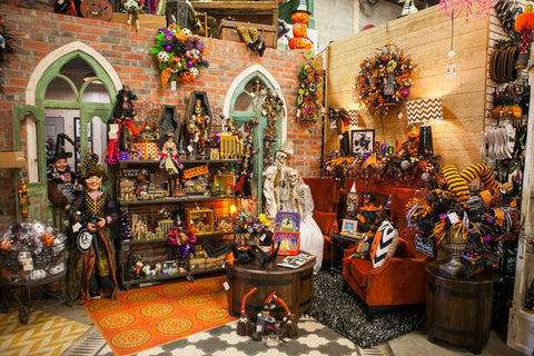 Miss Cayce's Sets the Halloween scene