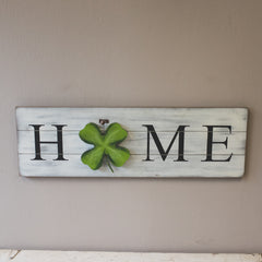 The Round Top Collection Home Board with 4 Leaf Clover Charm