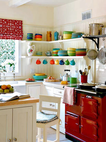 Colorful Kitchens #hgtv #colorfulkitchen #cotoncolors