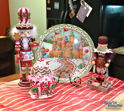 Show Me Decorating creates a cookie exchange buffet featuring a  Mary Engelbreit plate