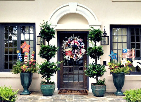 4th of July #frontporch, #4thofjulydecorations, #4thofjuly, #4thofjulyideas, #america