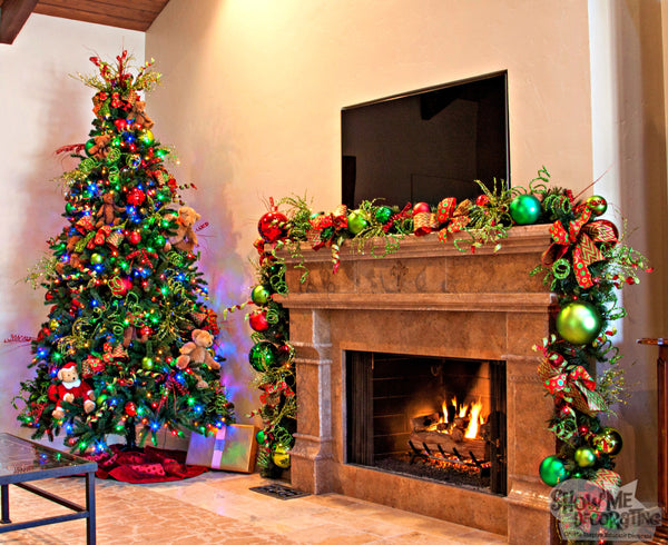 Show Me Decorating #christmastree, #christmasdecor, #colorfulchristmas #traditionalchristmas, #christmasgarland