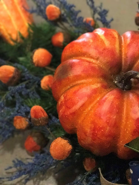 Orange Pumpkin Center Piece