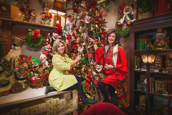 Kathy and Becky love to share their creative talents through Christmas! Miss cayce's Christmas Store, Midland Texas