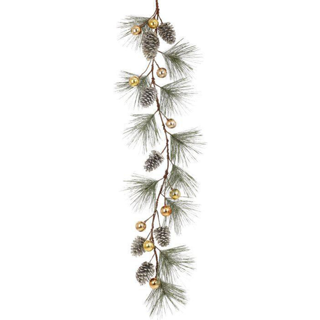 "Pine Cone Ball Garland, 60"", Gold"