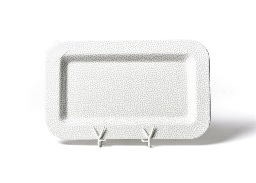 Stone Small Dot Mini Entertaining Rectangle Platter