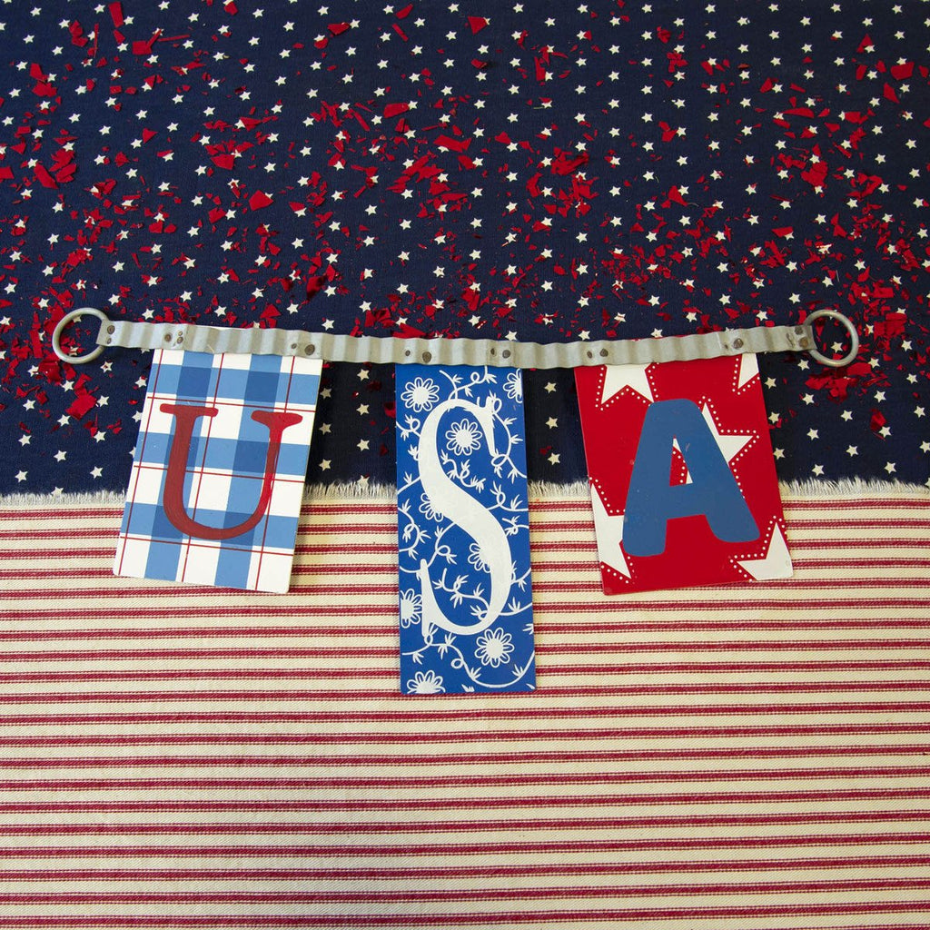 "Homespun ""USA"" Swag, Sm."
