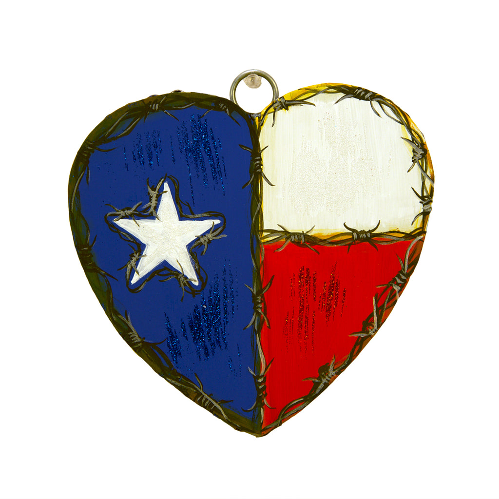 Texas Flag Heart Charm