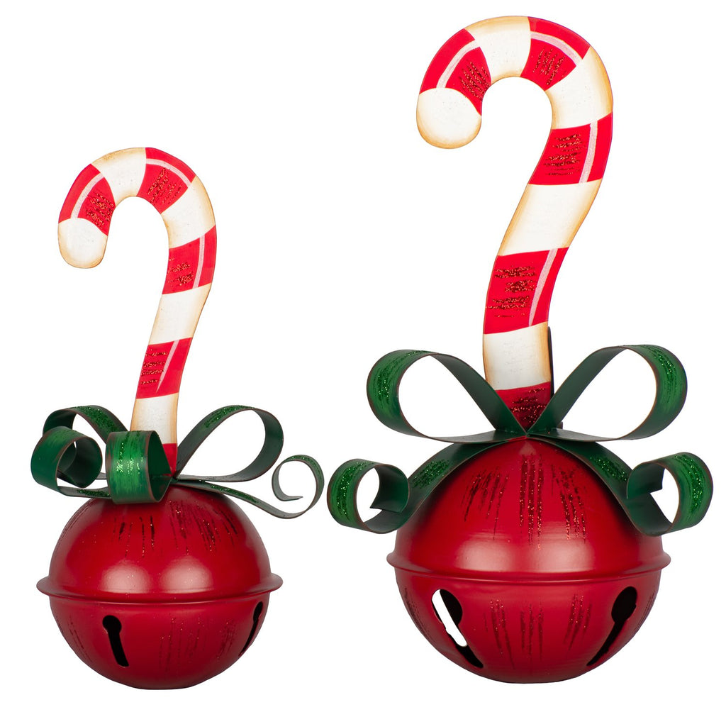 Candy Cane & Ribbon Bells, Assortment