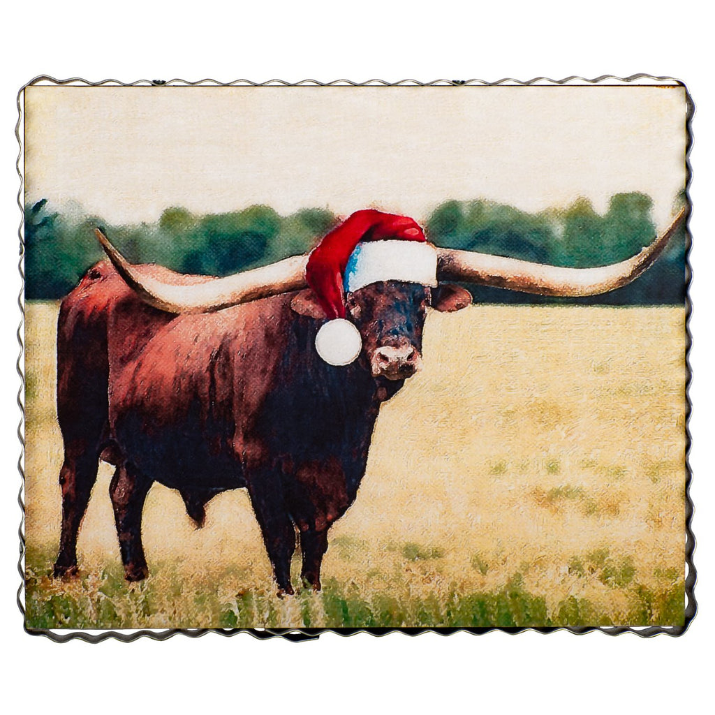 Studio Longhorn Bull In Hat