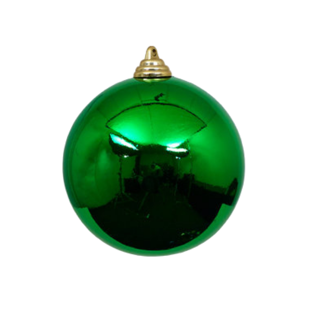 Emerald Green Shiny Ball Ornament