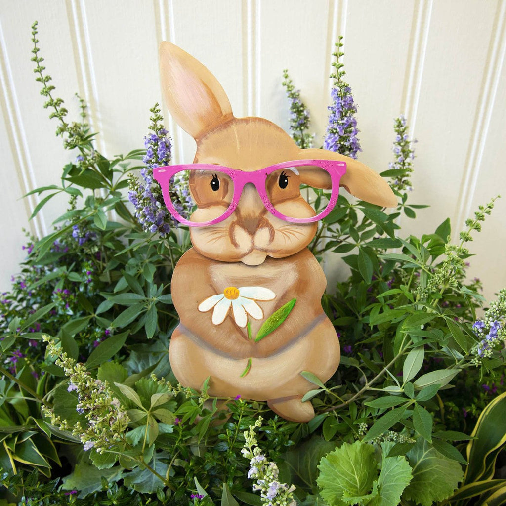 Brown Rabbit With Pink Glasses