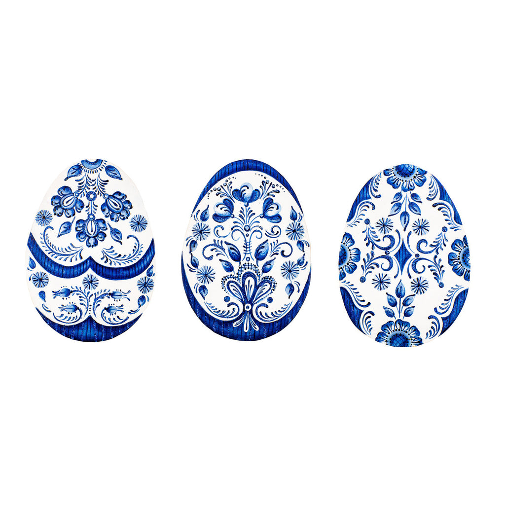 Indigo Embossed Egg
