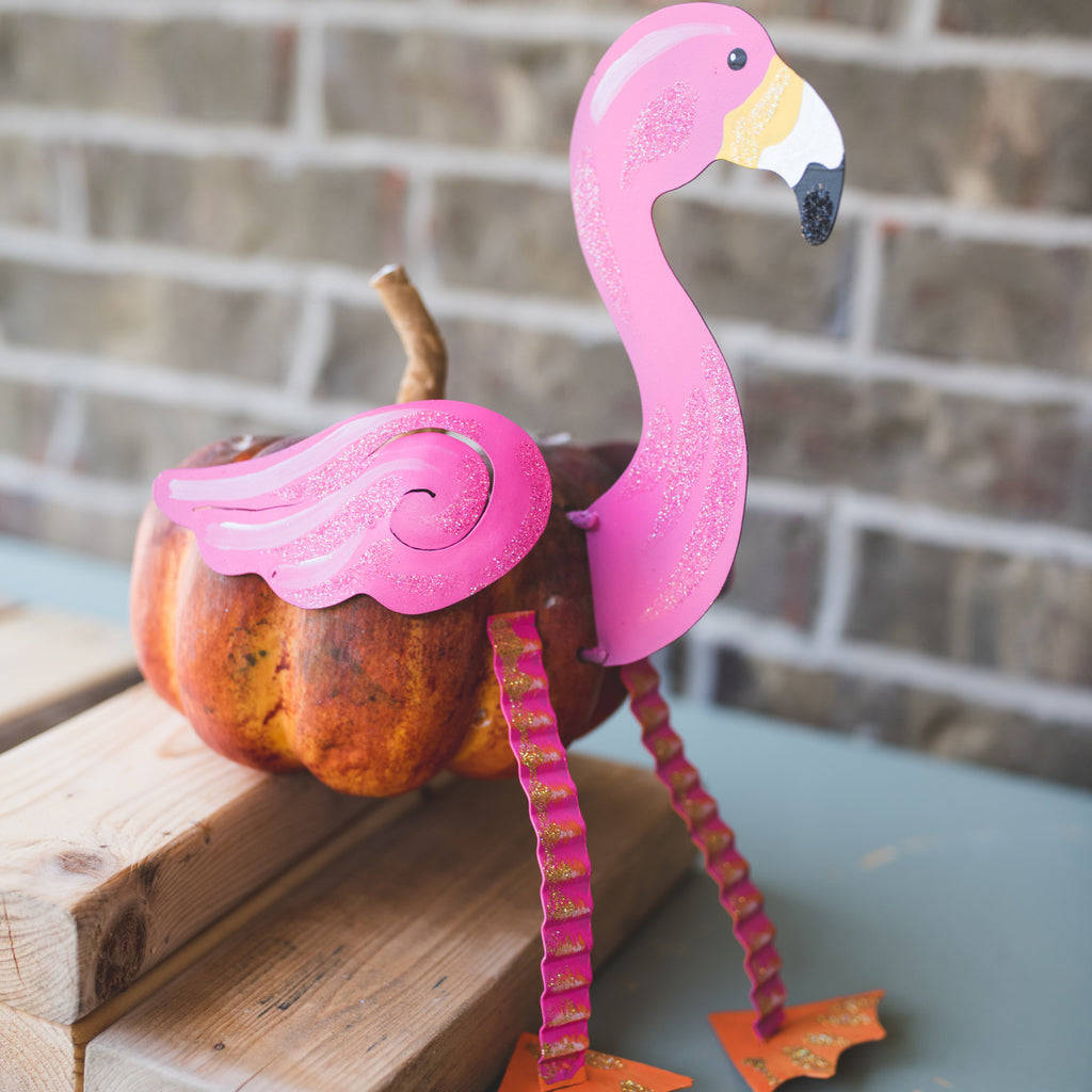 Pink Flamingo Pumpkin Parts