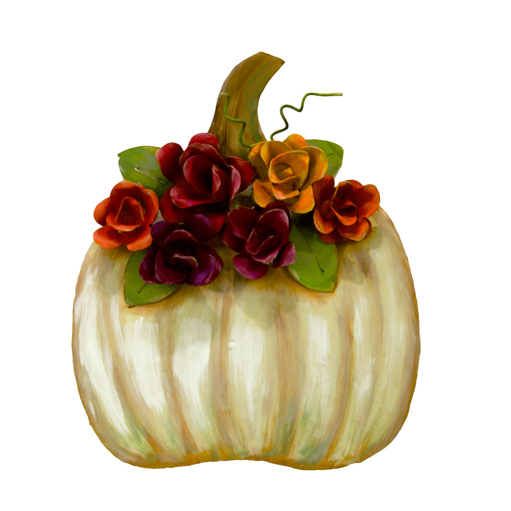 Cream Pumpkin with Roses