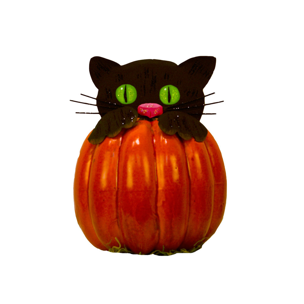 Peeking Cat Pumpkin Parts, Set of 3
