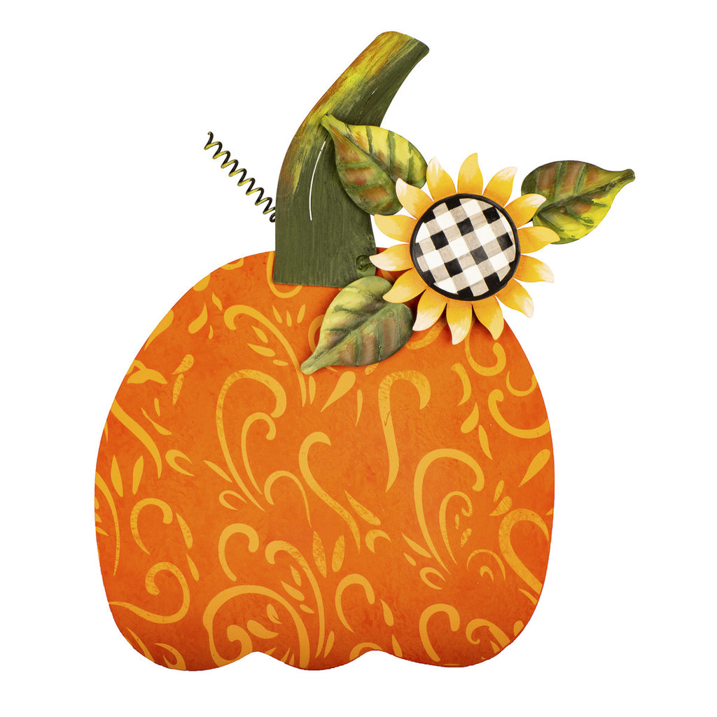 Medium Buffalo Checked Sunflower Pumpkin
