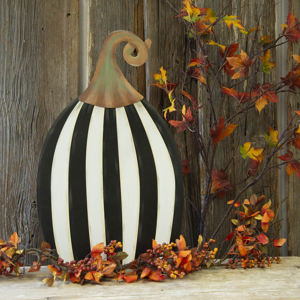 Tall Striped Pumpkin