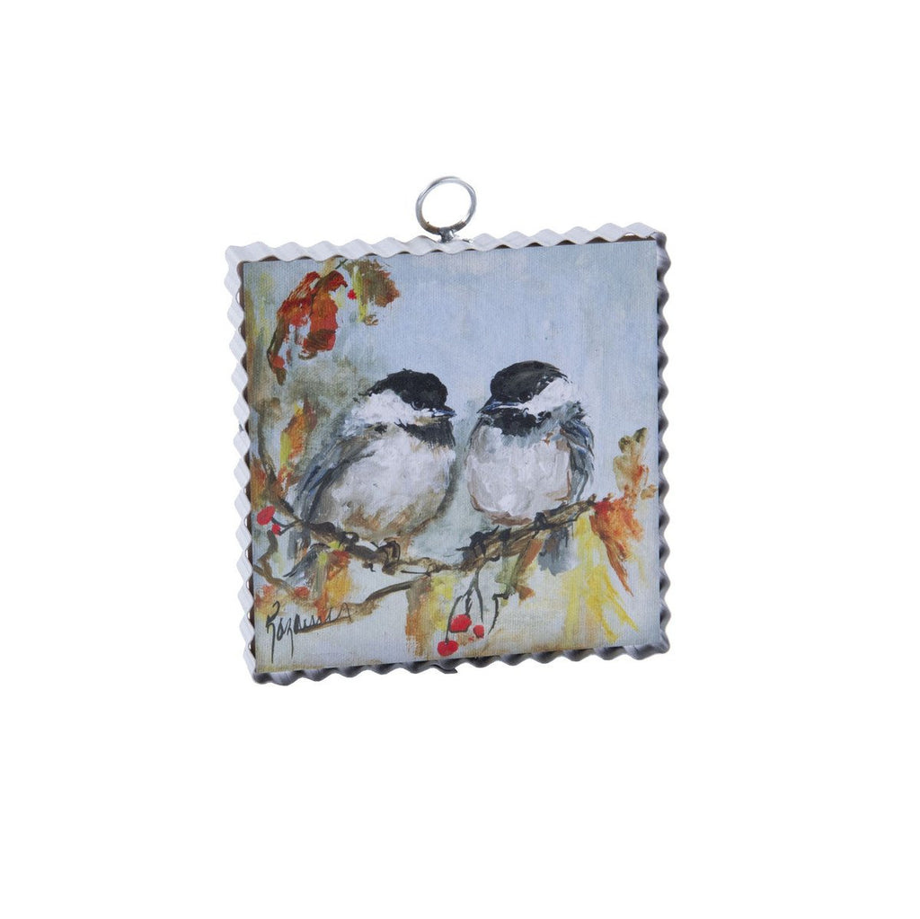 Mini Autumn Chickadee Print