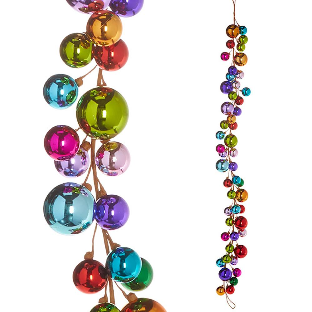 4' Ball Garland, Multi