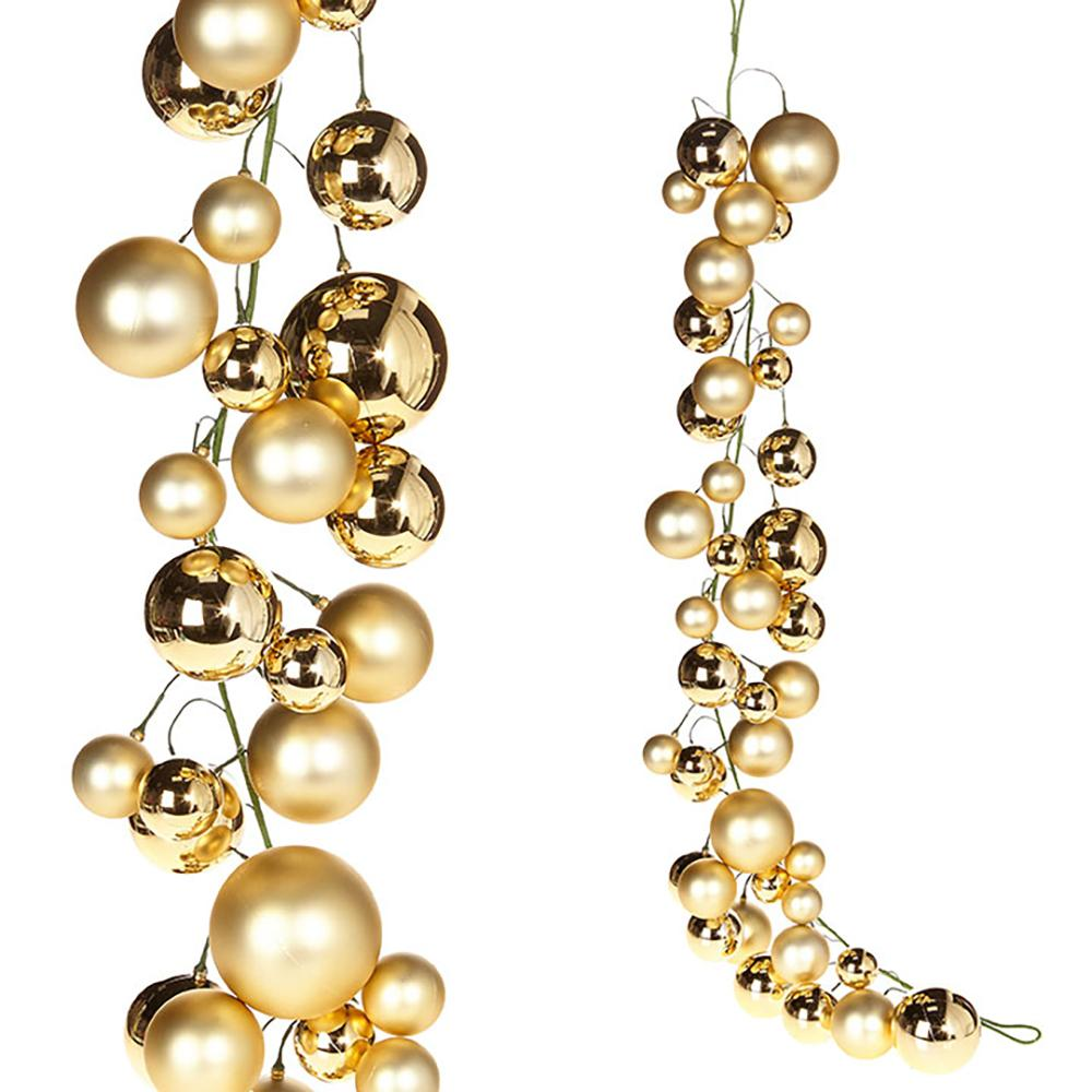4' Ball Garland, Gold