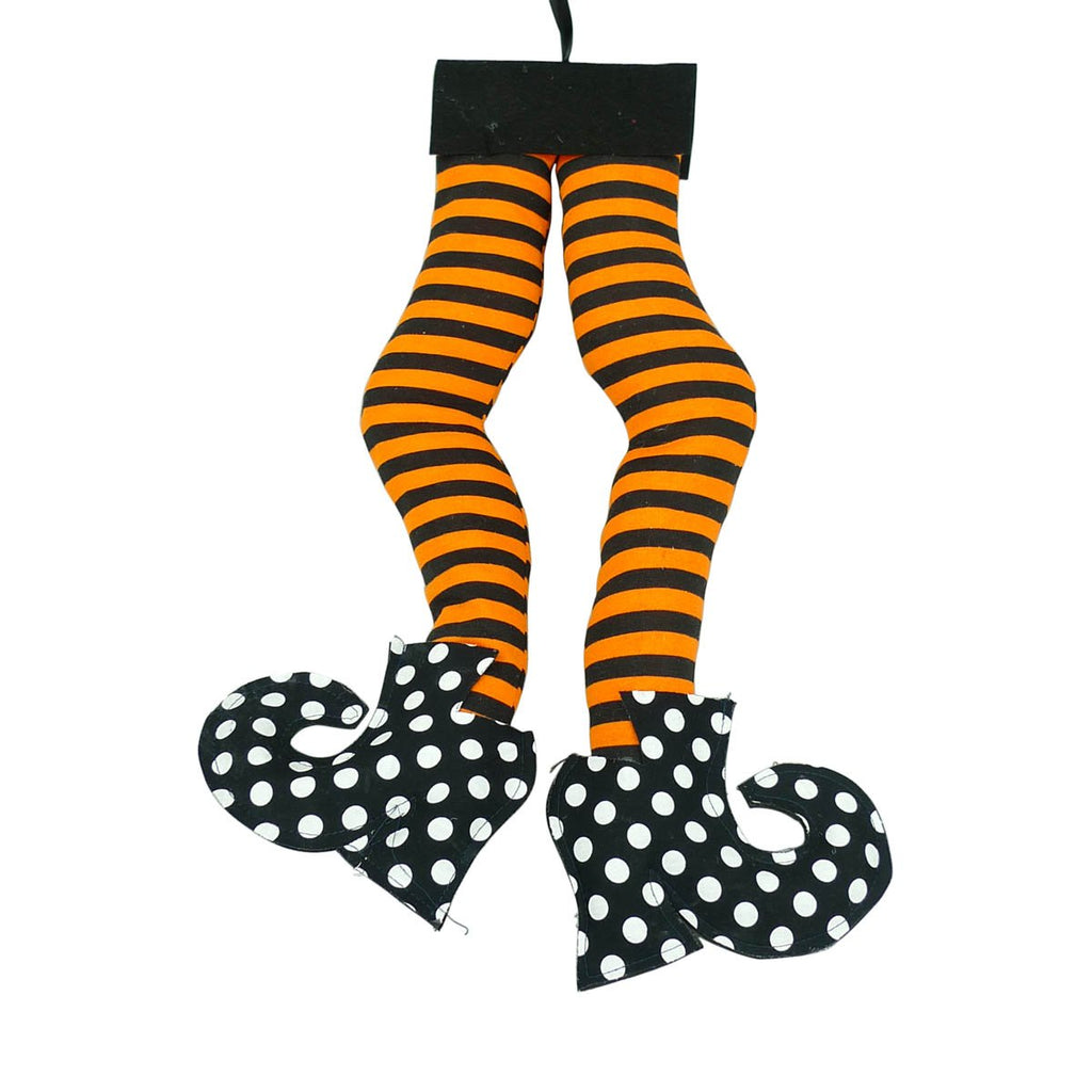 Stripe Polkadot Witch Legs H18