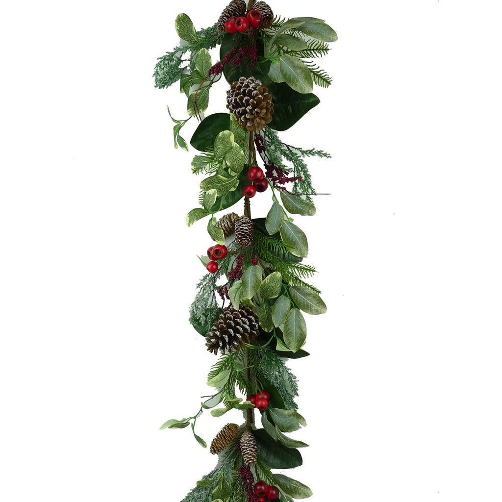 PINE  BERRY GARLAND 4FT