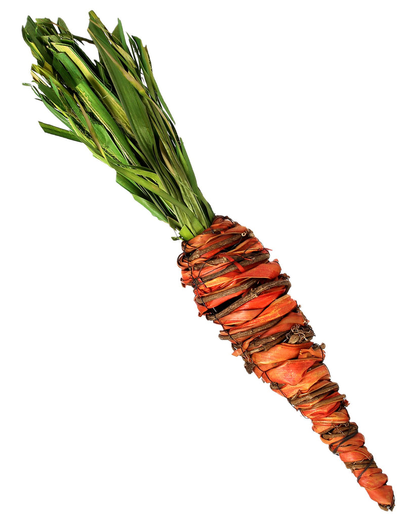 Raffia and Twig Carrot, 17""