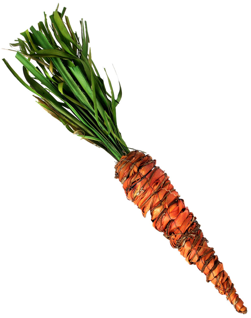 Raffia and Twig Carrot, 24""
