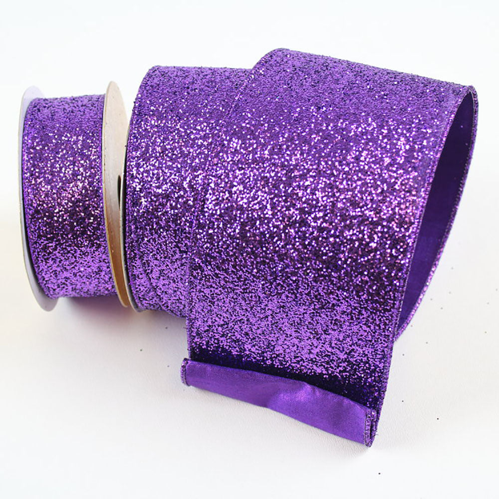 Glitter Magic Purple Ribbon