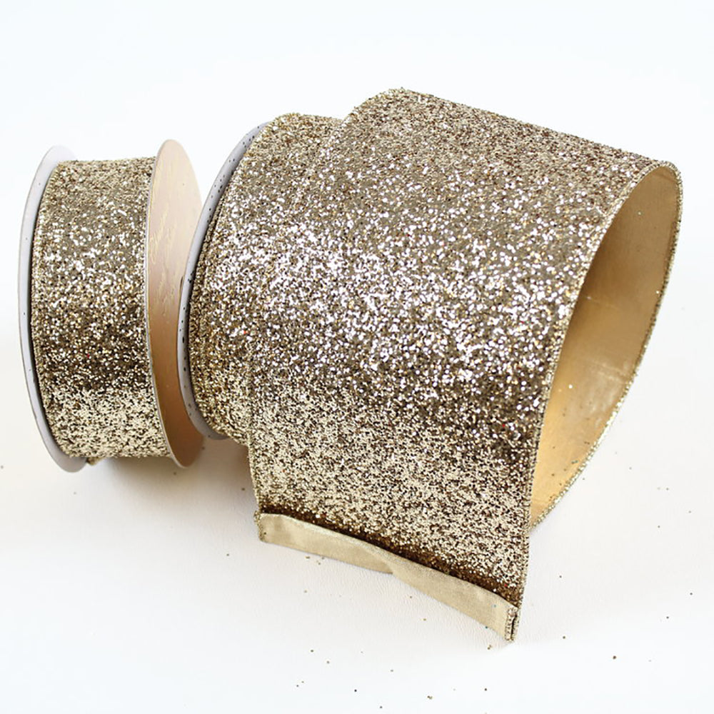 Glitter Magic Light Gold Ribbon