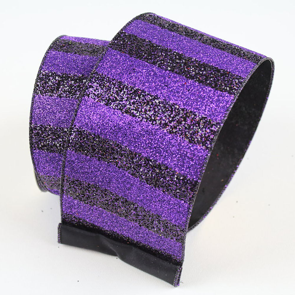 Black Stripes Purple Ribbon