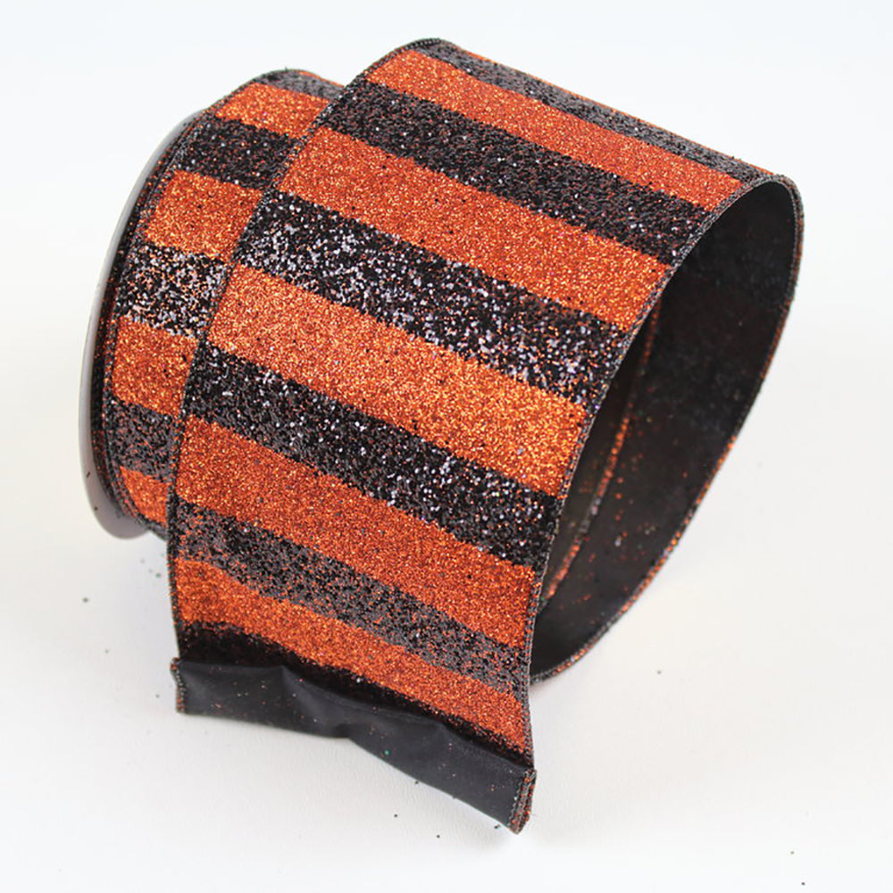 Black Stripes Orange Ribbon