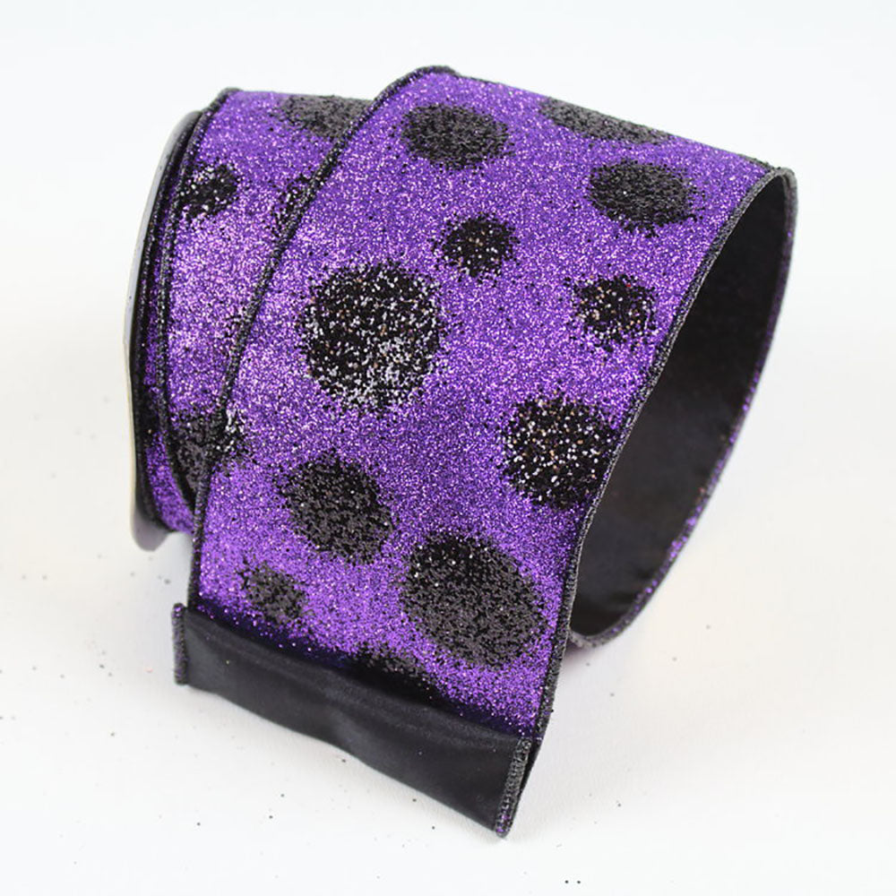 Black Dots Purple Ribbon