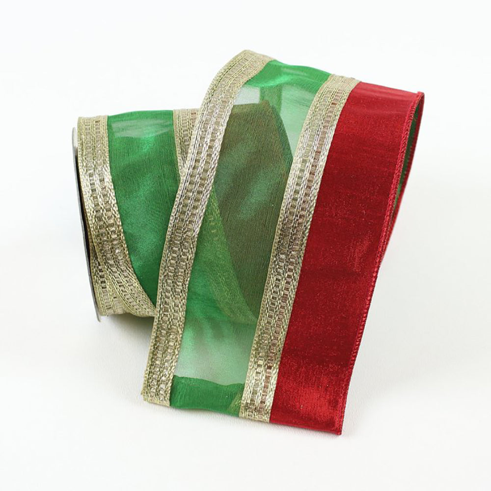 Sheer Beautiful Red & Green Ribbon
