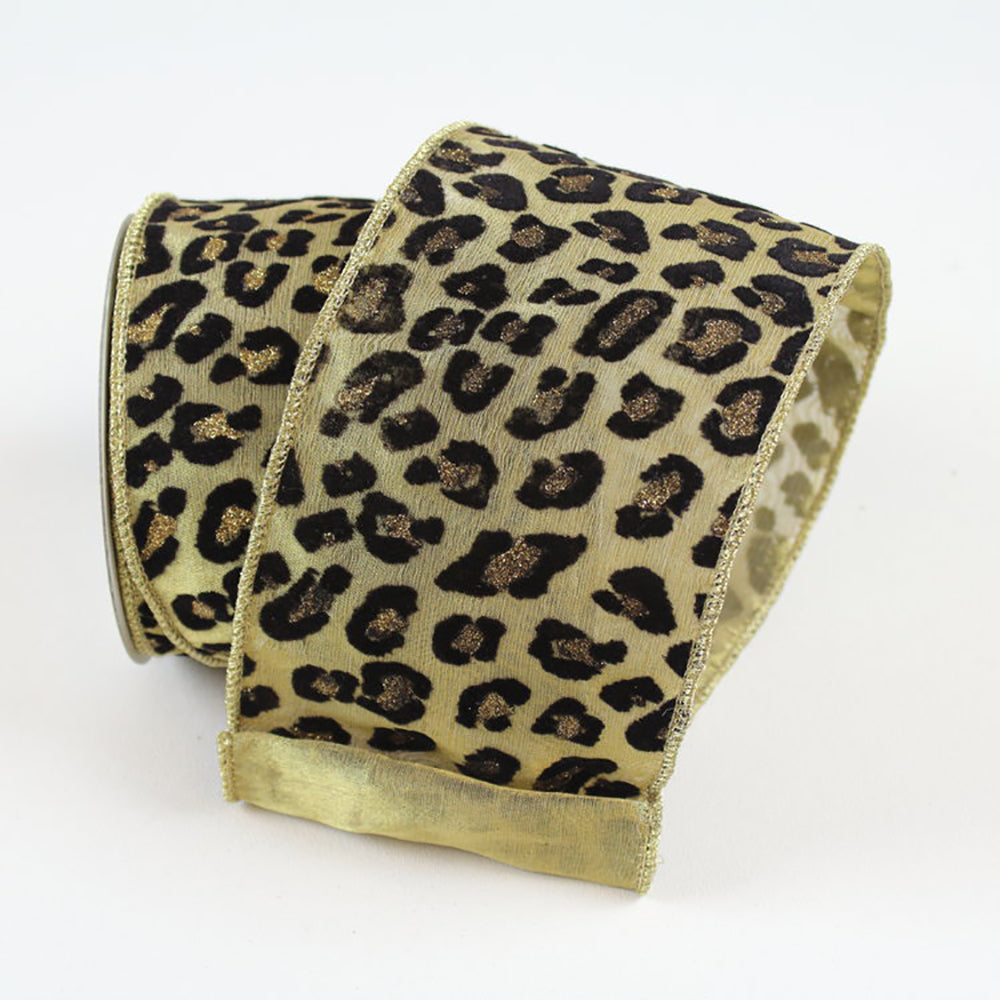 Metallic Cheetah Gold Ribbon
