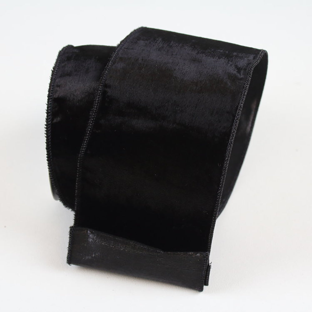 Silky Velvet Black Ribbon