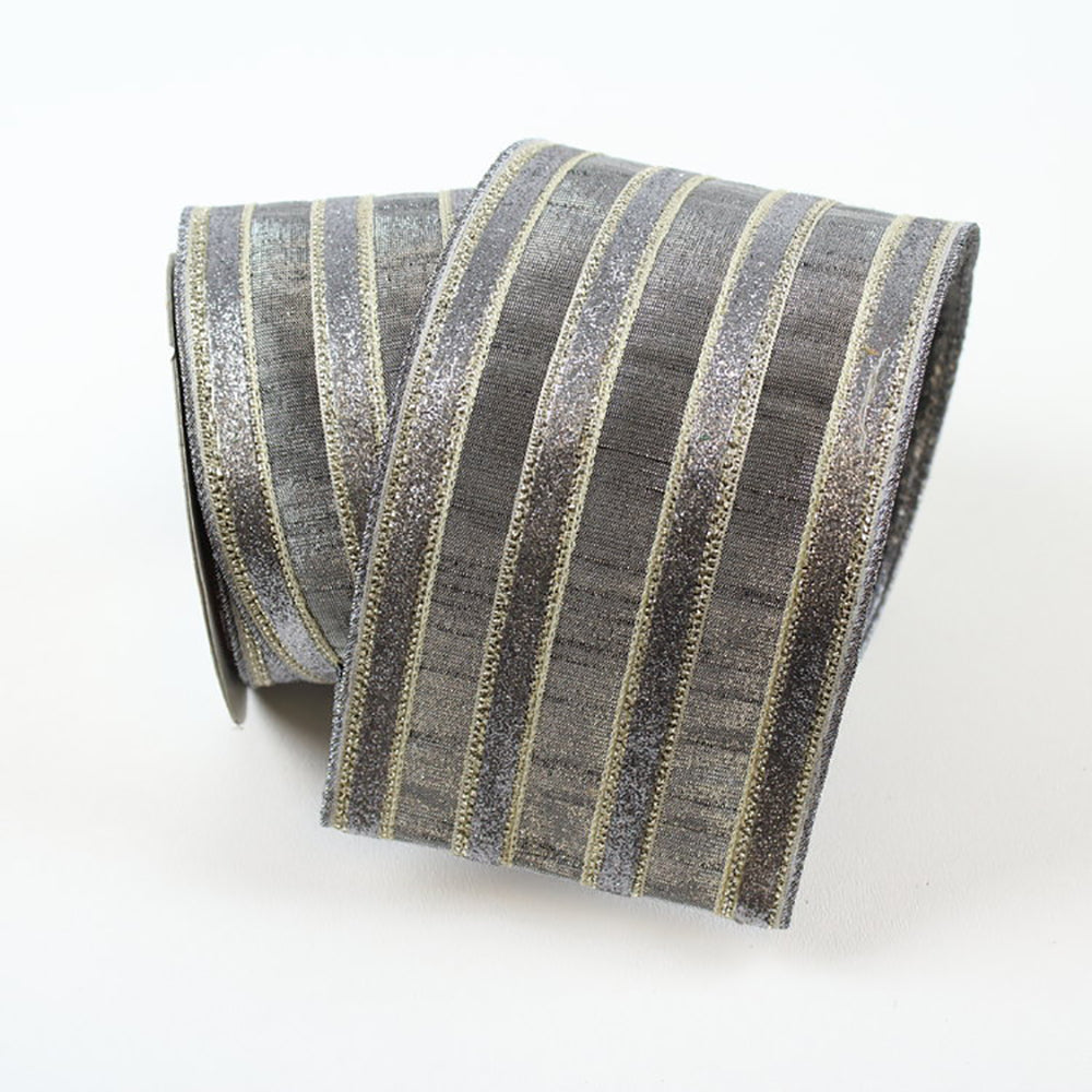 Frosty Stripes Slate Ribbon