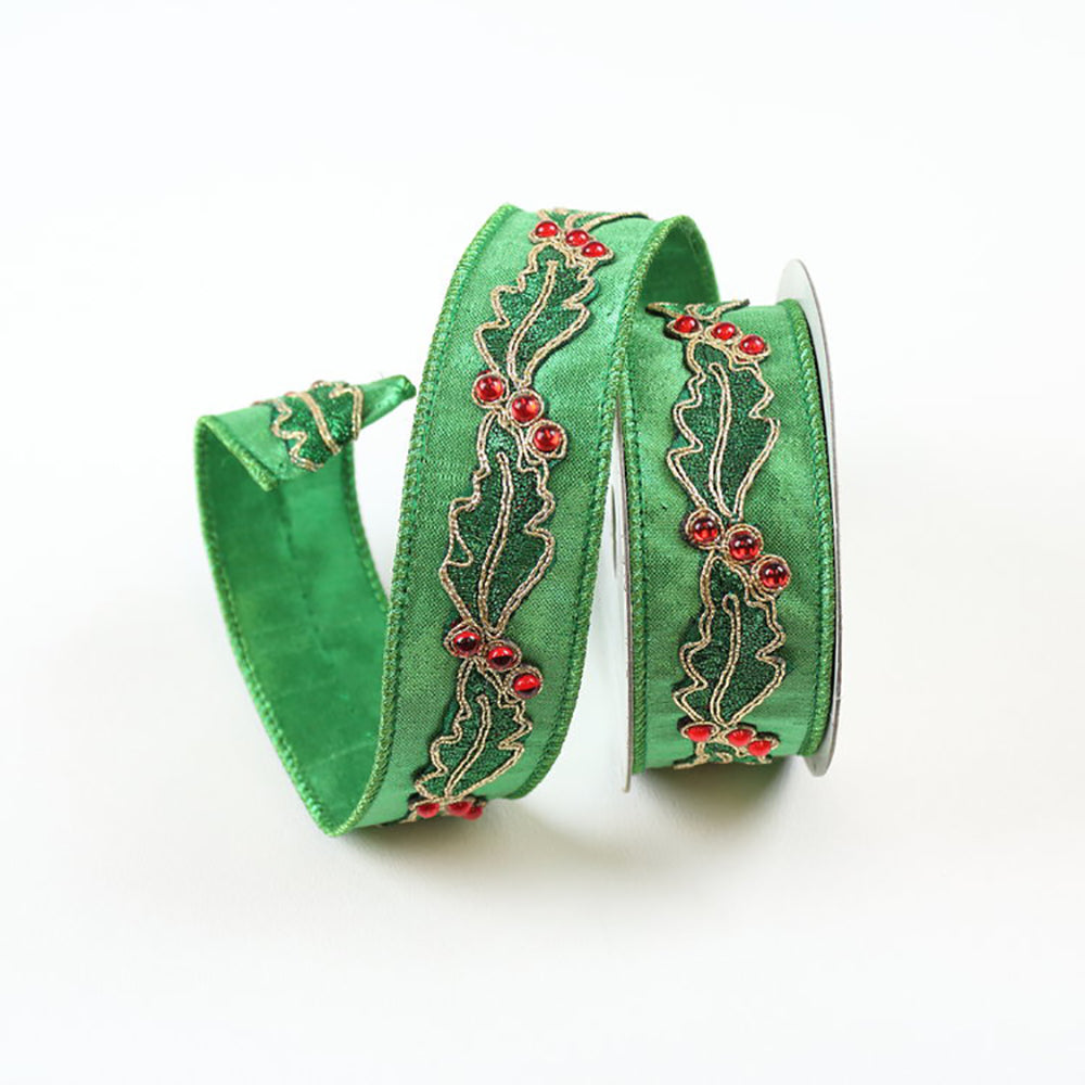 Holly Green Ribbon