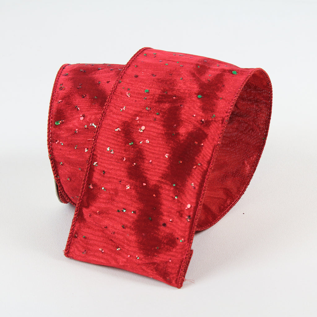 Confetti Red Emerald Ribbon